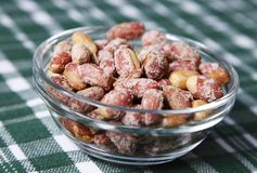 Roasted peanuts with salt Royalty Free Stock Photography