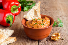 Roasted pepper dip royalty free stock image