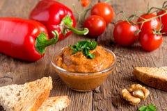 Roasted pepper dip Stock Image