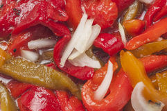 Roasted pepper salad series 02 Royalty Free Stock Photography