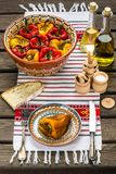 Roasted pepper salad. Is a traditional Romanian food stock image