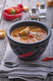 Roasted pepper soup Stock Images
