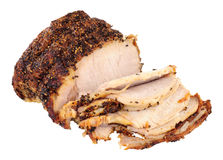 Roasted Peppered Pork Joint Stock Photo