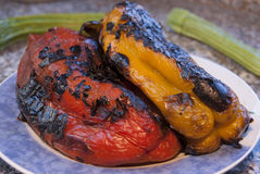 Roasted peppers Stock Image