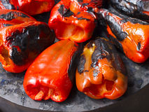 Roasted peppers Stock Photo