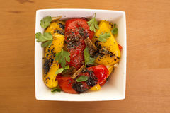 Roasted Peppers. A side dish with roasted peppers Royalty Free Stock Photography