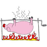 Roasted Pig. An image of a roasted pig Stock Photo