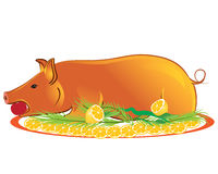 Roasted piglet Royalty Free Stock Photo