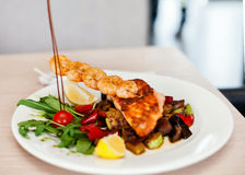 Roasted pike perch fillet Stock Image