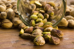 Roasted pistachios Royalty Free Stock Images