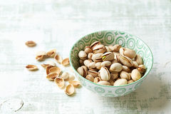 Roasted pistachios in a bowl Royalty Free Stock Image