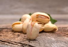 Roasted pistachios Stock Images