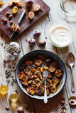 Roasted Plums and Figs Stock Images