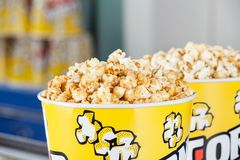 Roasted Popcorns In Buckets At Cinema Royalty Free Stock Image