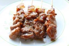 Roasted pork. A Roasted pork on dish Stock Photos