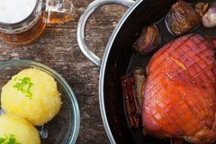 Roasted pork Stock Photography