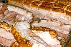 Roasted pork belly Royalty Free Stock Photo