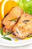 Roasted pork chop with orange sauce Royalty Free Stock Photos
