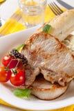Roasted pork chops Stock Photography