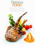 Roasted Pork Chops with Vegetables Stock Image