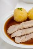 Roasted pork dish with dumpling Stock Photos