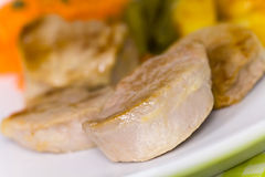 Roasted Pork Fillet - Tenderloin With Vegetables Royalty Free Stock Photo