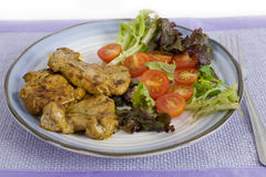 Roasted pork with fresh salad Royalty Free Stock Photos
