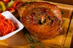 Roasted pork knee Stock Photography