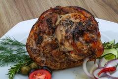 Roasted pork knee Stock Photo
