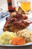 Roasted pork knuckle Stock Images