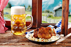 Roasted pork knuckle with crispy crackling Royalty Free Stock Photography