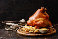 Roasted Pork Knuckle Eisbein Royalty Free Stock Photography