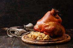 Roasted pork knuckle eisbein Stock Image