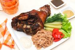 Roasted Pork Knuckle Stock Photo