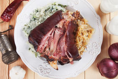 Roasted pork knuckle Royalty Free Stock Images