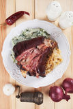 Roasted pork knuckle Royalty Free Stock Photo