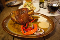Roasted pork knuckle Stock Image