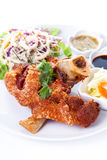 Roasted pork knuckle with sauce Stock Photography