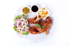 Roasted pork knuckle with sauce Royalty Free Stock Image