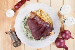 Roasted pork knuckle Stock Photos