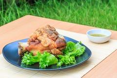 Roasted pork knuckle Stock Image