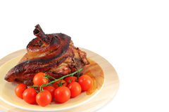 Roasted pork knuckle Royalty Free Stock Photography