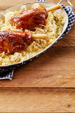 Roasted pork knuckles with crisp crackling Stock Image