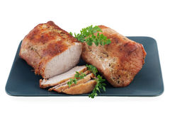 Roasted pork loin Stock Image