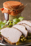 Roasted pork loin Royalty Free Stock Photo
