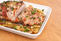 Roasted Pork Loin Stock Photography