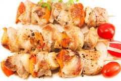 Roasted pork meat with vegetables Stock Images
