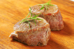 Roasted pork medallions Royalty Free Stock Image