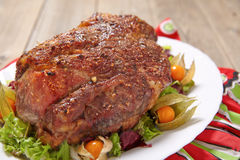 Roasted pork neck Stock Images