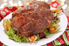 Roasted pork neck Stock Photo